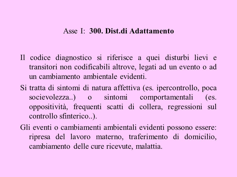 Asse I: 300. Dist.di Adattamento