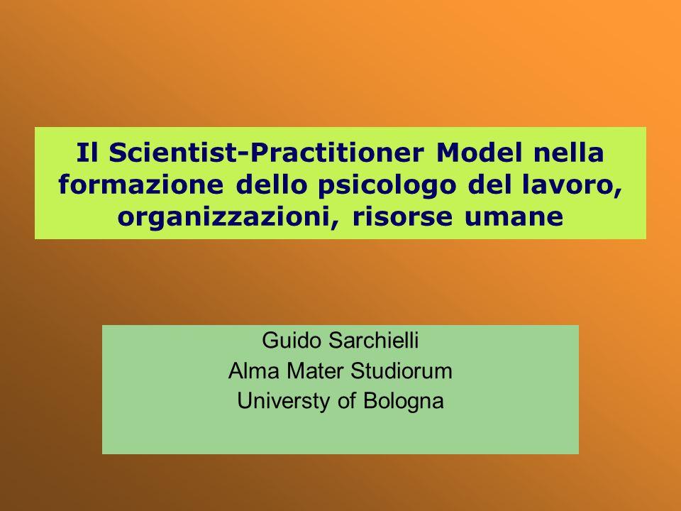 Guido Sarchielli Alma Mater Studiorum Universty of Bologna