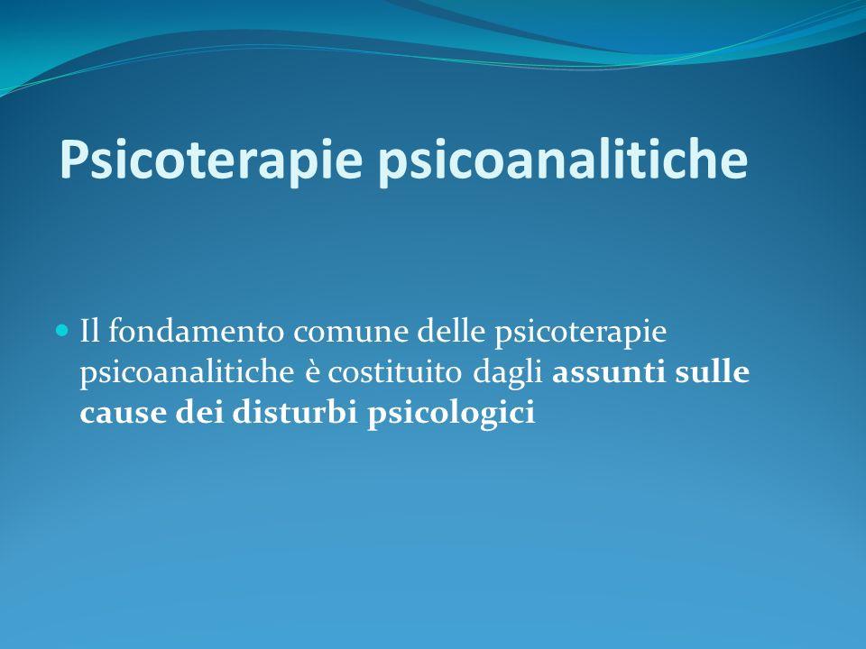 Psicoterapie psicoanalitiche