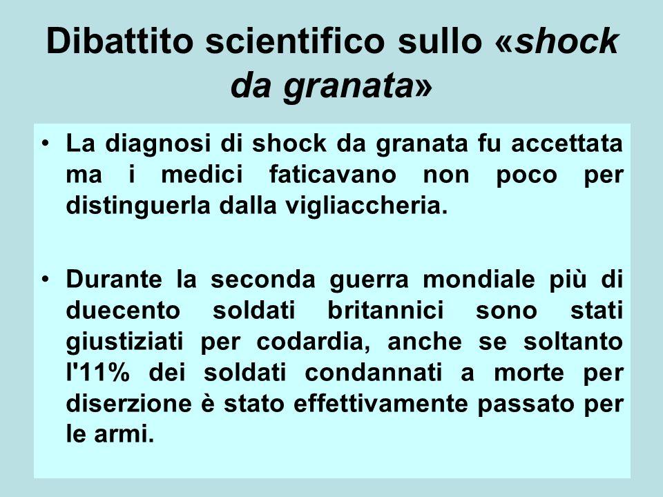 Dibattito scientifico sullo «shock da granata»
