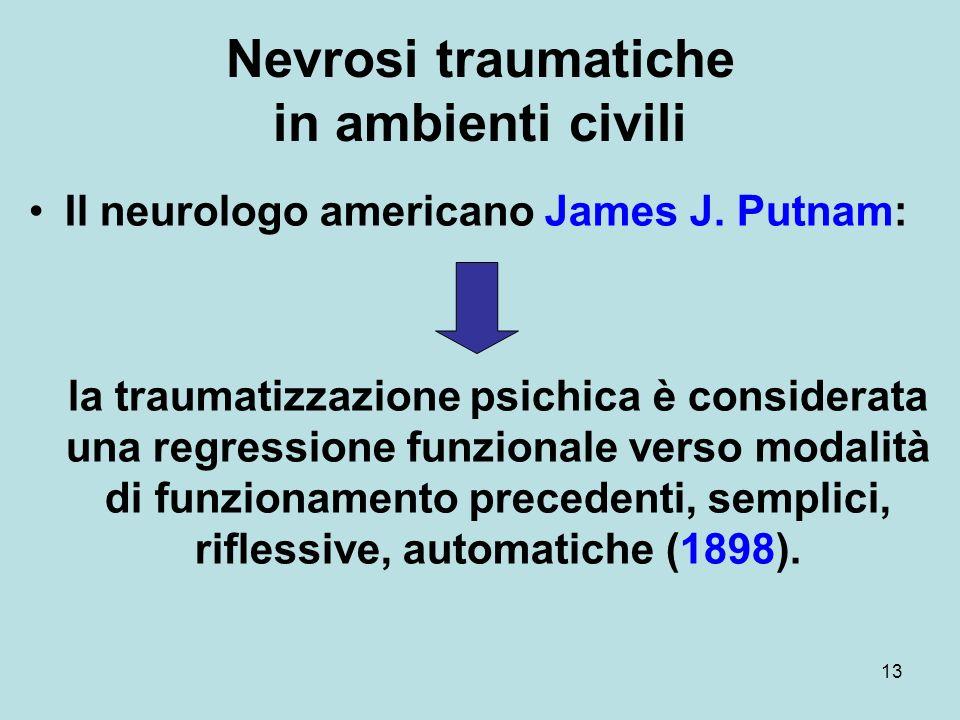Nevrosi traumatiche in ambienti civili