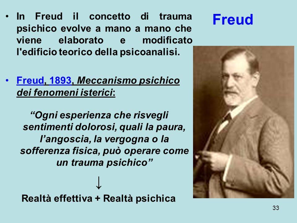 Realtà effettiva + Realtà psichica