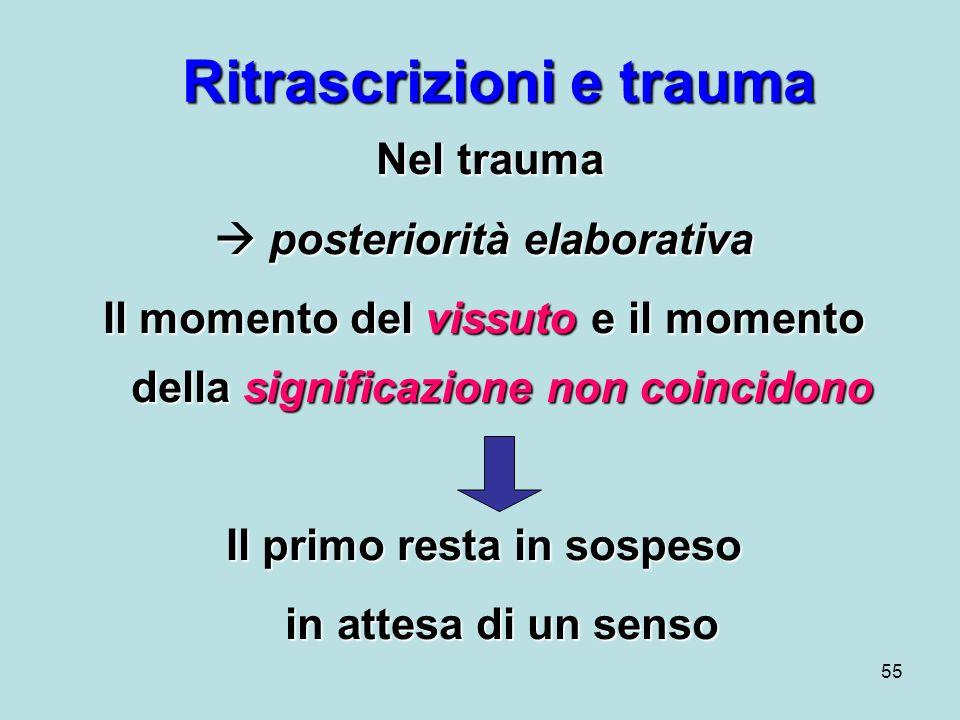 Ritrascrizioni e trauma