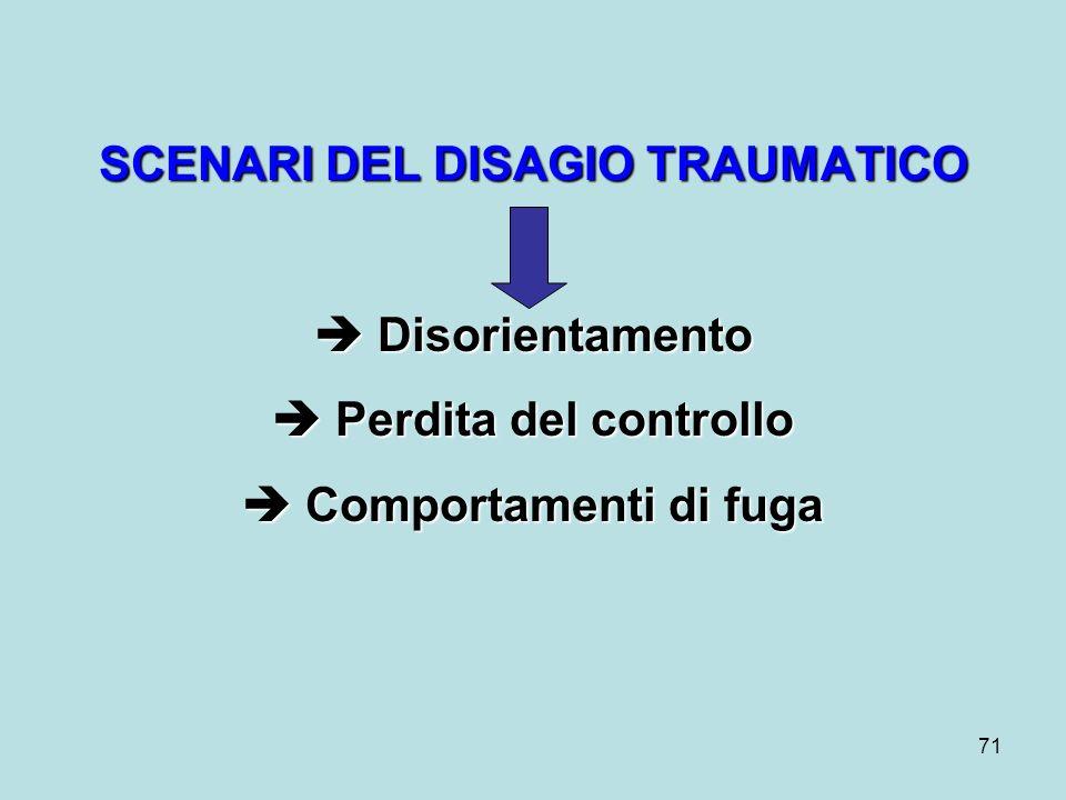 SCENARI DEL DISAGIO TRAUMATICO