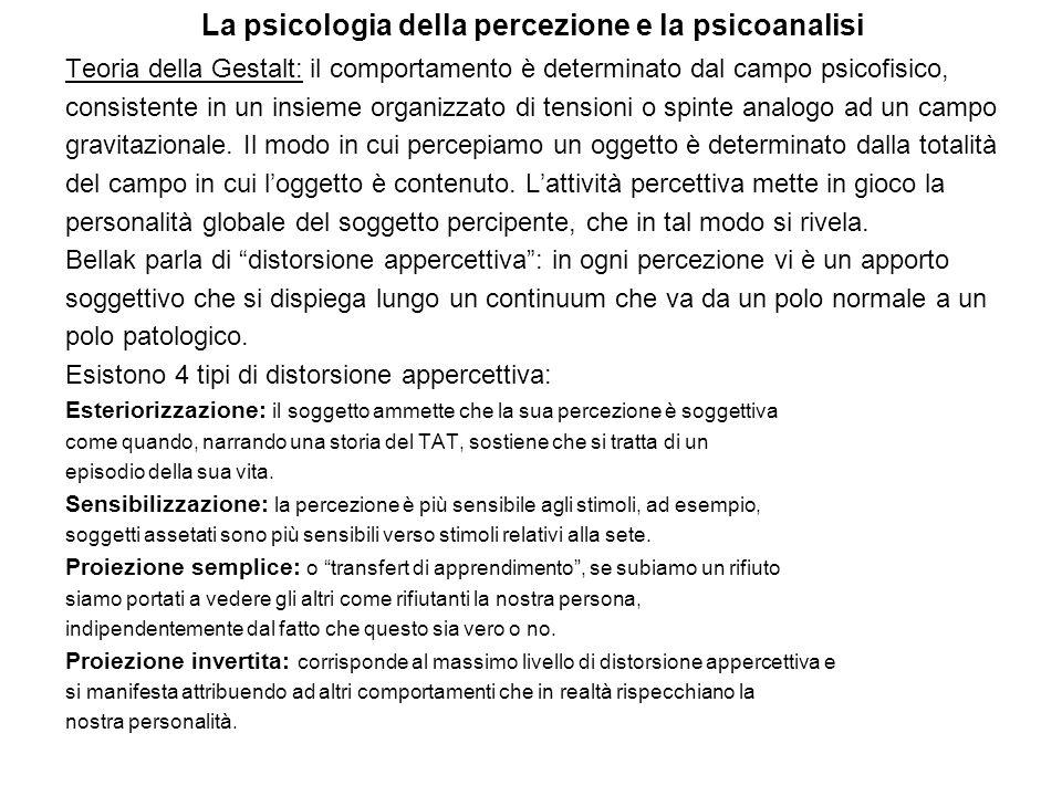 La psicologia della percezione e la psicoanalisi