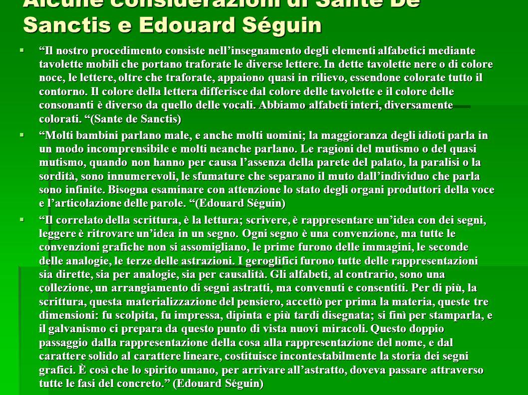 Alcune considerazioni di Sante De Sanctis e Edouard Séguin
