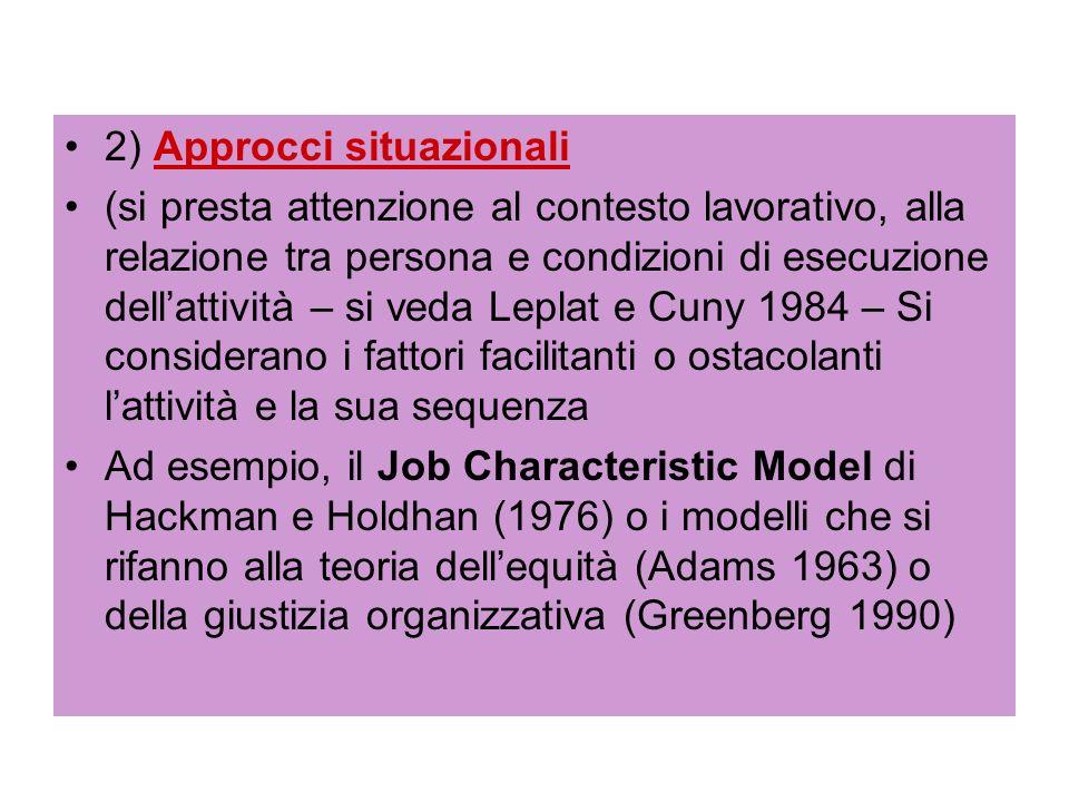 2) Approcci situazionali