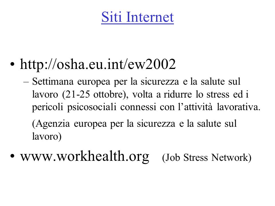 www.workhealth.org (Job Stress Network)
