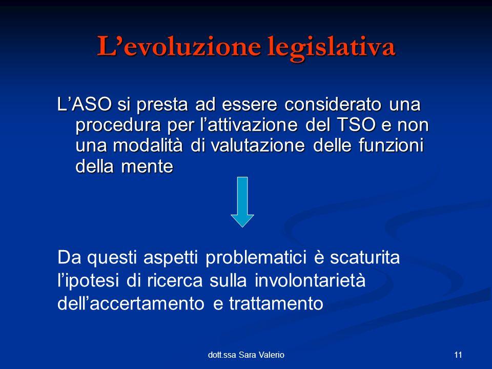 L'evoluzione legislativa