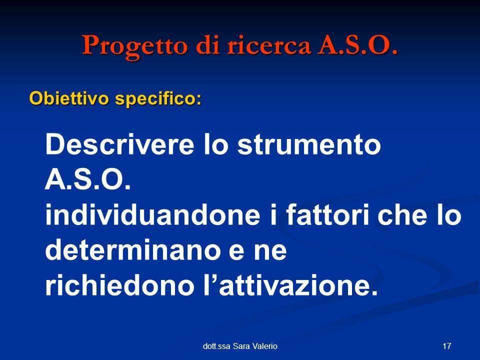 Progetto di ricerca A.S.O.