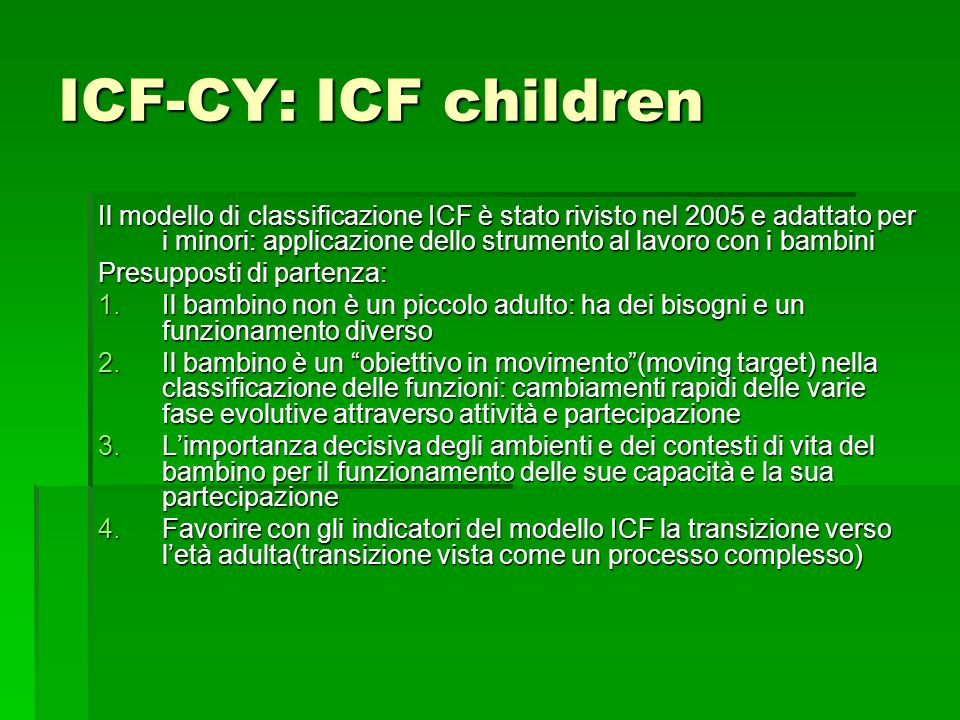 ICF-CY: ICF children