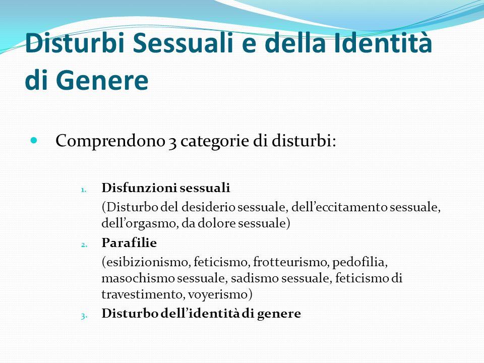Disturbi Sessuali e della Identità di Genere