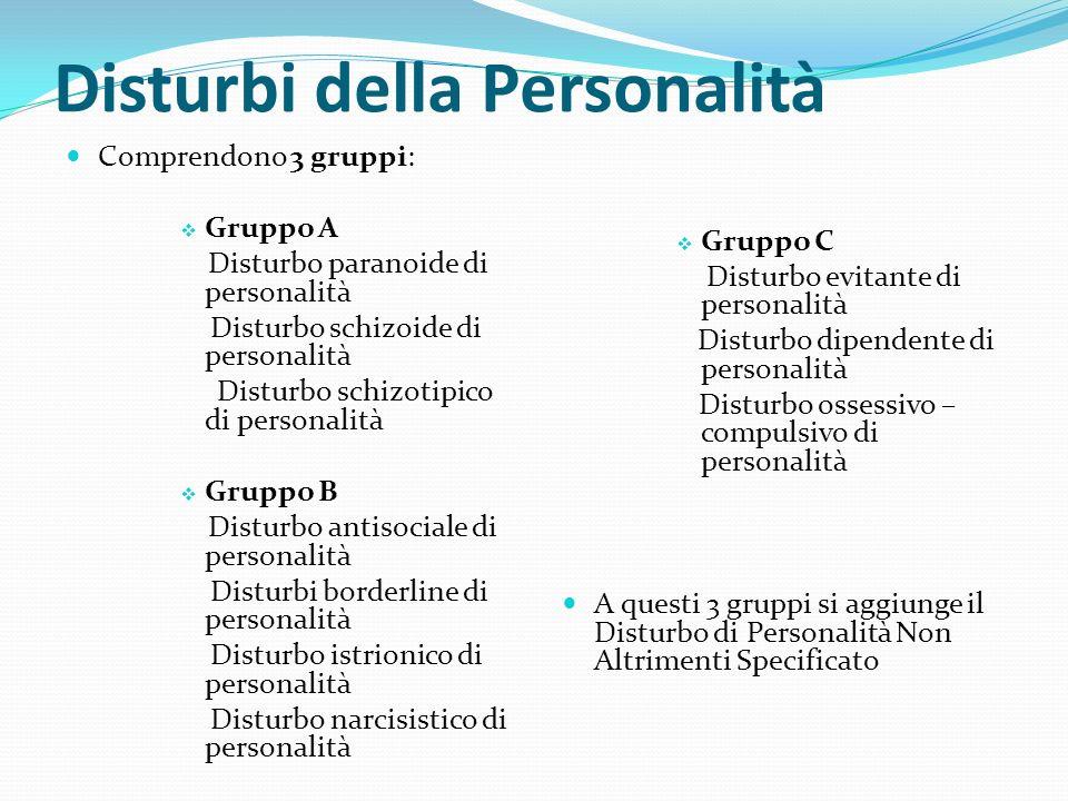 Disturbi della Personalità