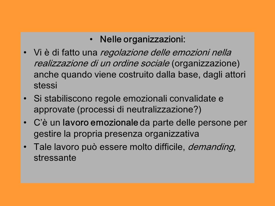 Nelle organizzazioni: