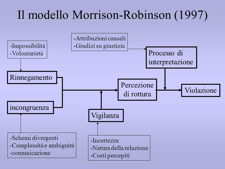 Il modello Morrison-Robinson (1997)