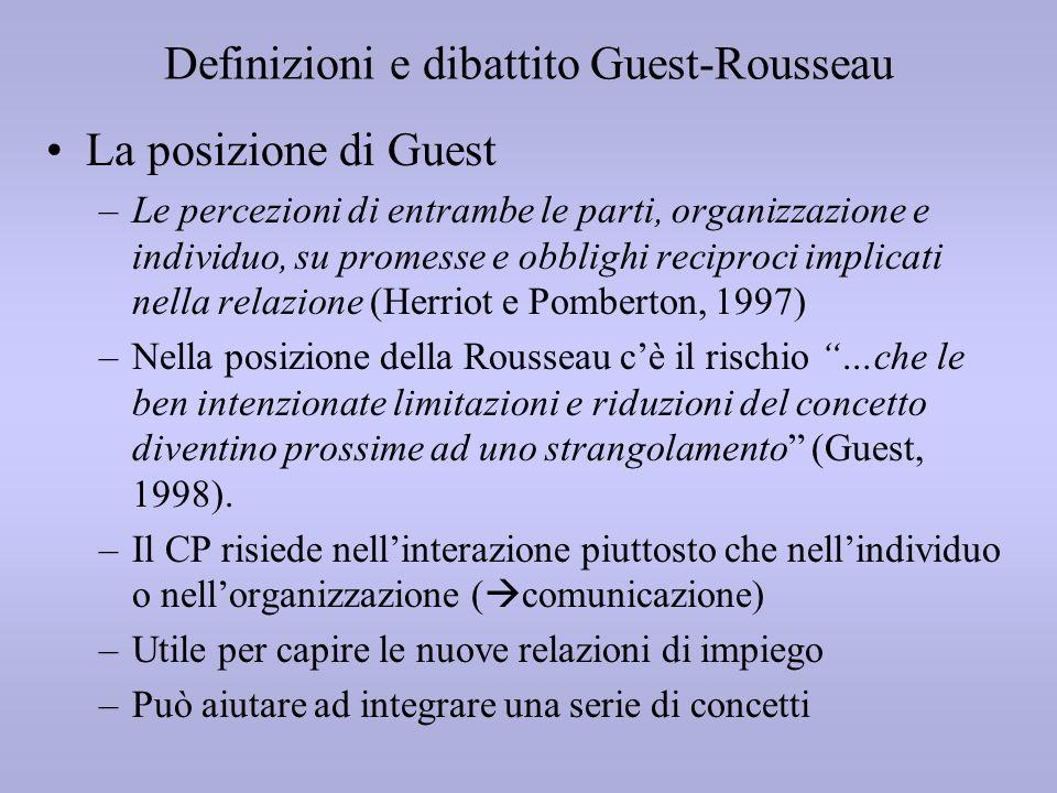 Definizioni e dibattito Guest-Rousseau