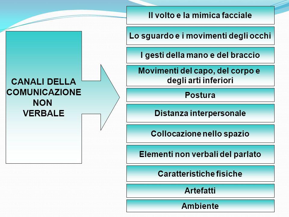 CANALI DELLA COMUNICAZIONE NON VERBALE