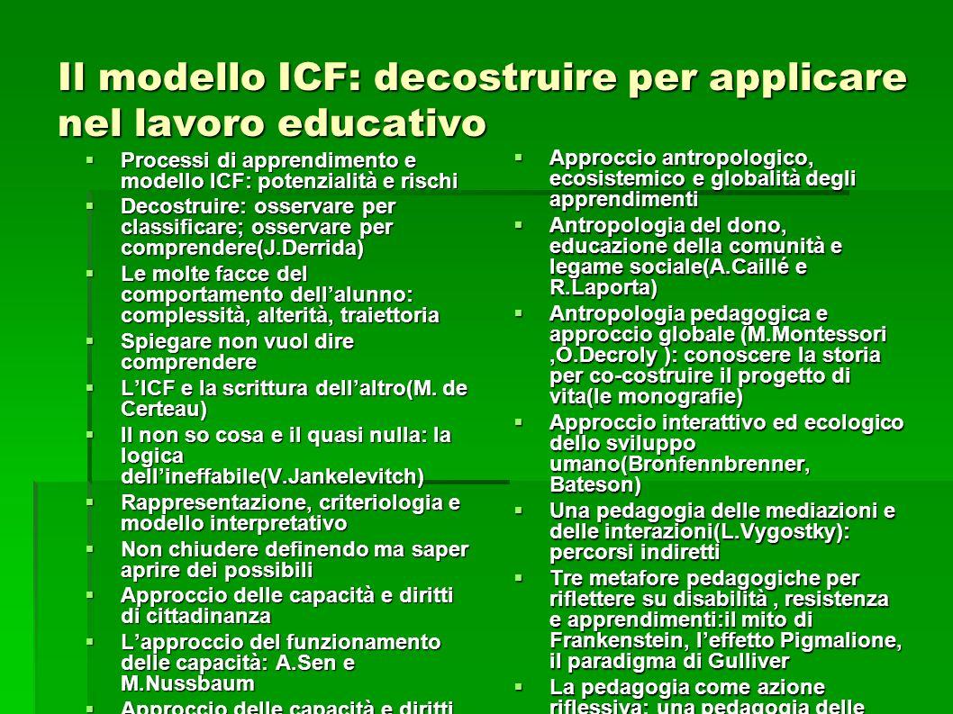 Il modello ICF: decostruire per applicare nel lavoro educativo