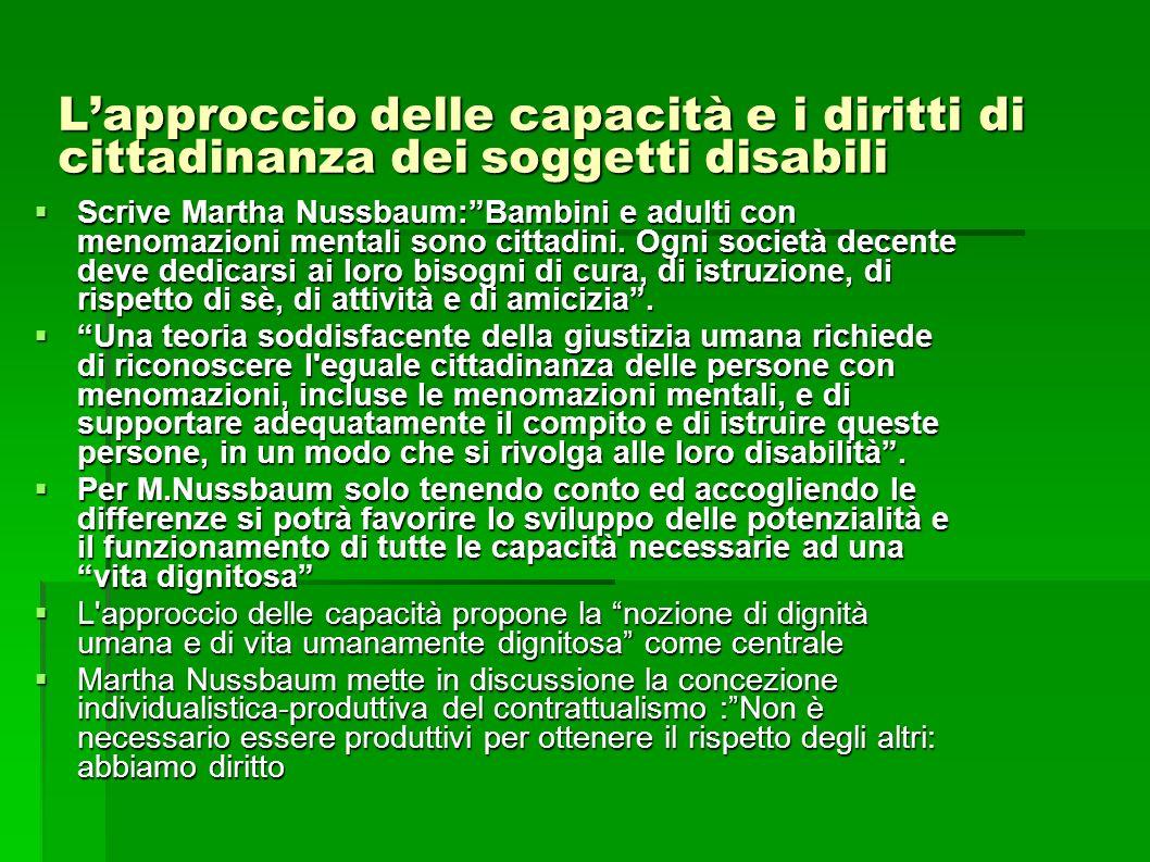 L'approccio delle capacità e i diritti di cittadinanza dei soggetti disabili