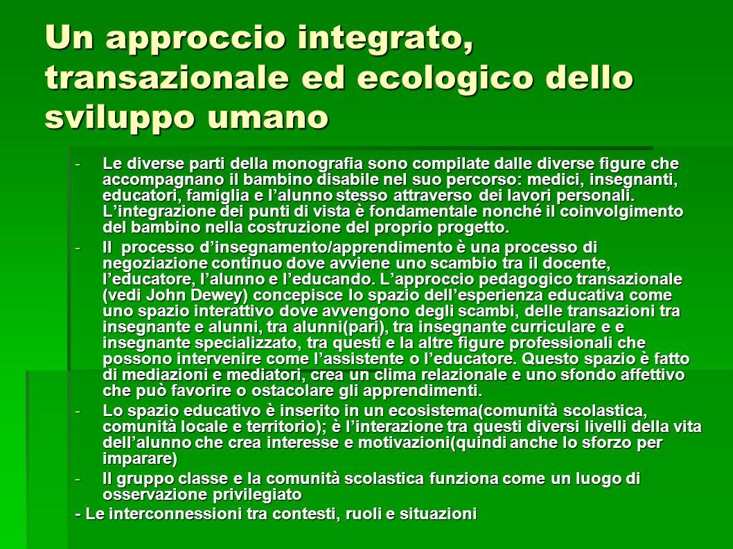 Un approccio integrato, transazionale ed ecologico dello sviluppo umano