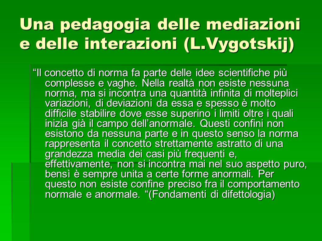 Una pedagogia delle mediazioni e delle interazioni (L.Vygotskij)