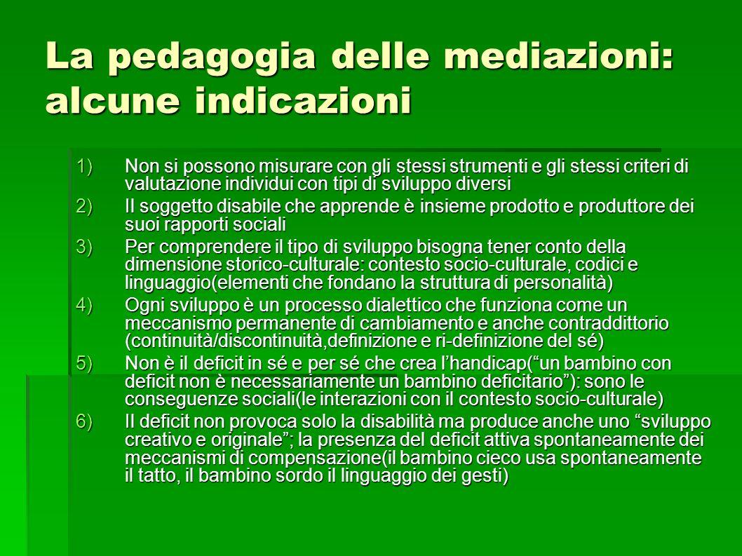 La pedagogia delle mediazioni: alcune indicazioni