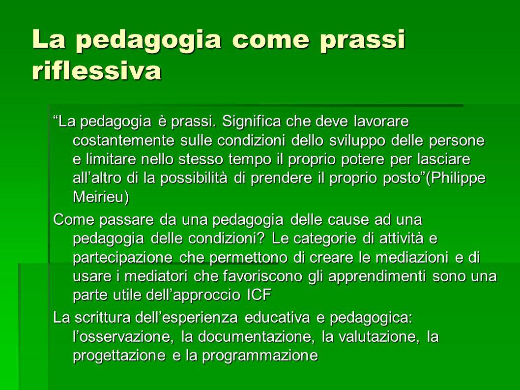 La pedagogia come prassi riflessiva