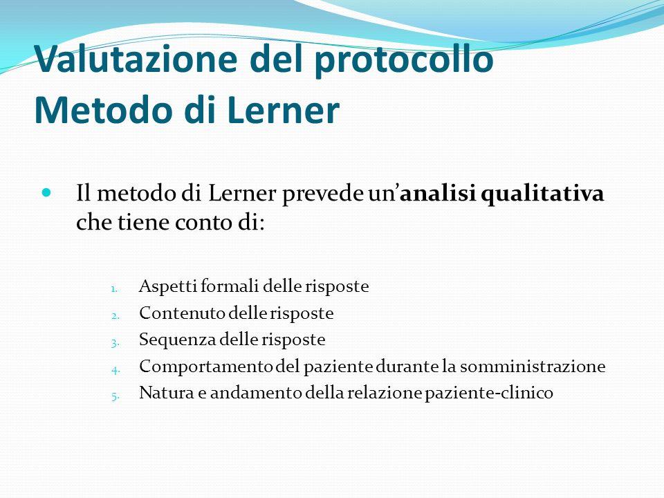 Valutazione del protocollo Metodo di Lerner