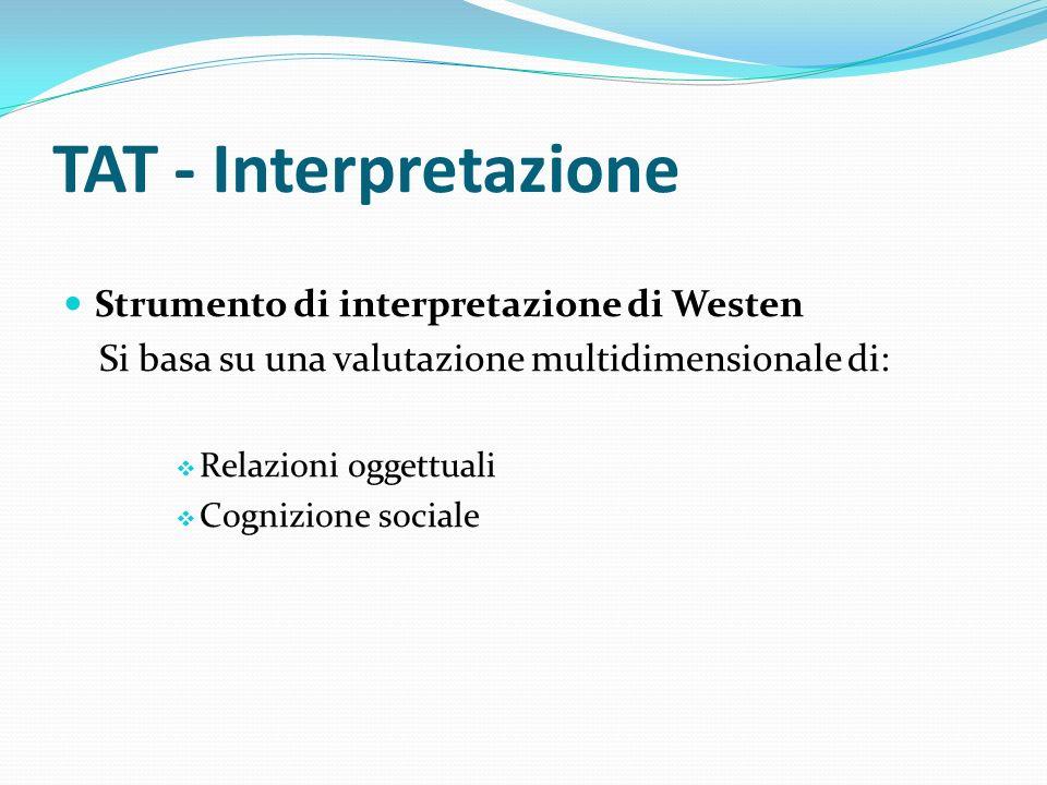 TAT - Interpretazione Strumento di interpretazione di Westen