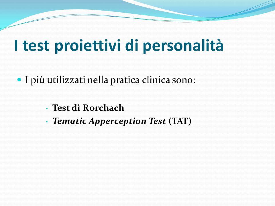 I test proiettivi di personalità