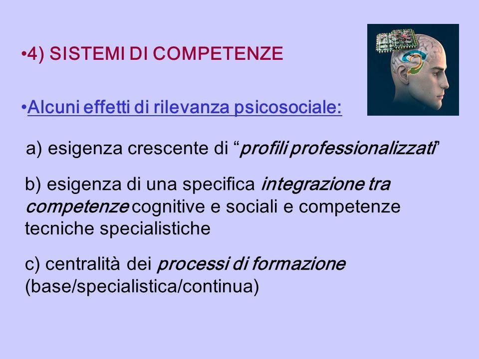 4) SISTEMI DI COMPETENZE