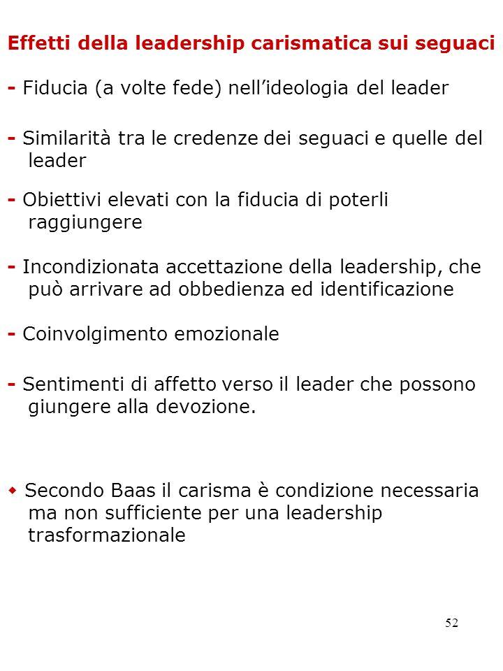 Effetti della leadership carismatica sui seguaci