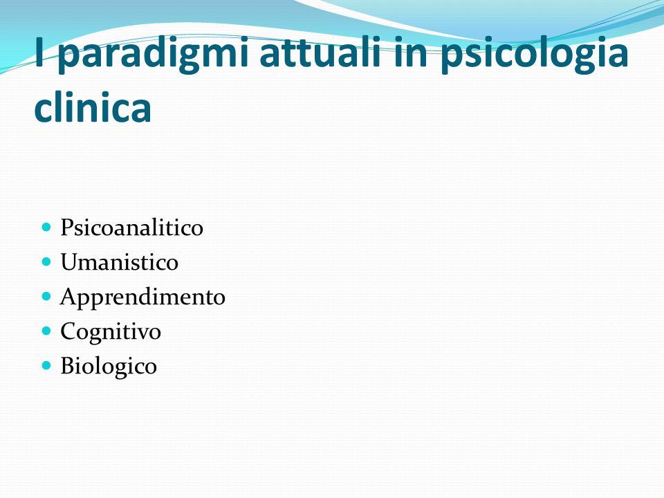 I paradigmi attuali in psicologia clinica