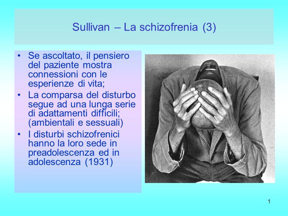 Sullivan – La schizofrenia (3)
