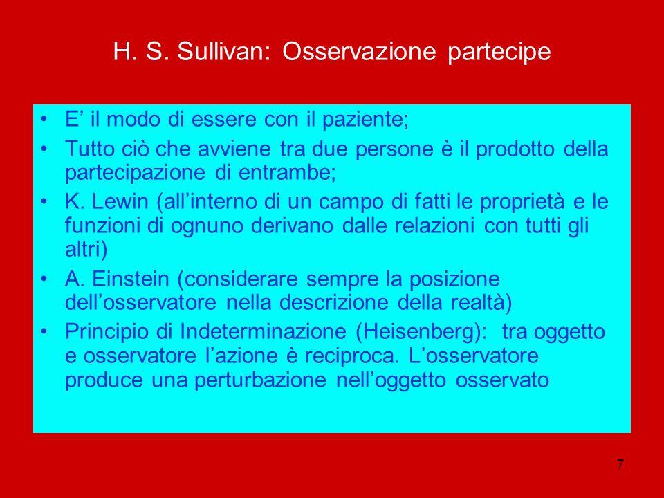 H. S. Sullivan: Osservazione partecipe