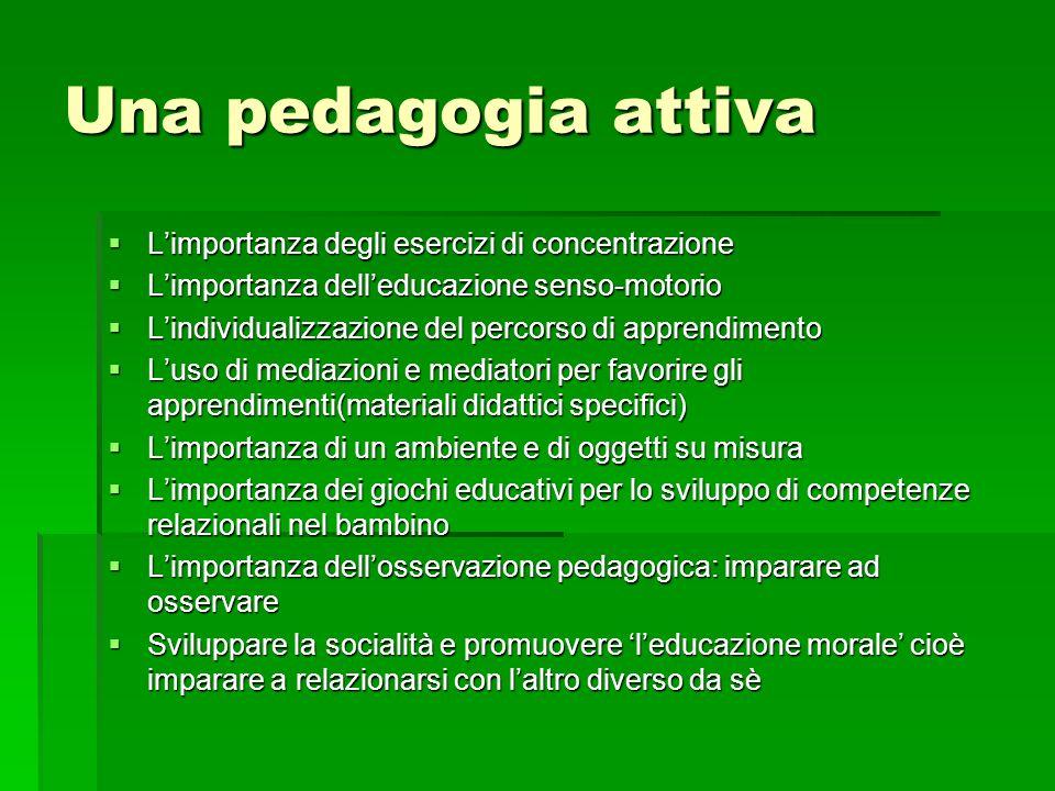 Una pedagogia attiva L'importanza degli esercizi di concentrazione