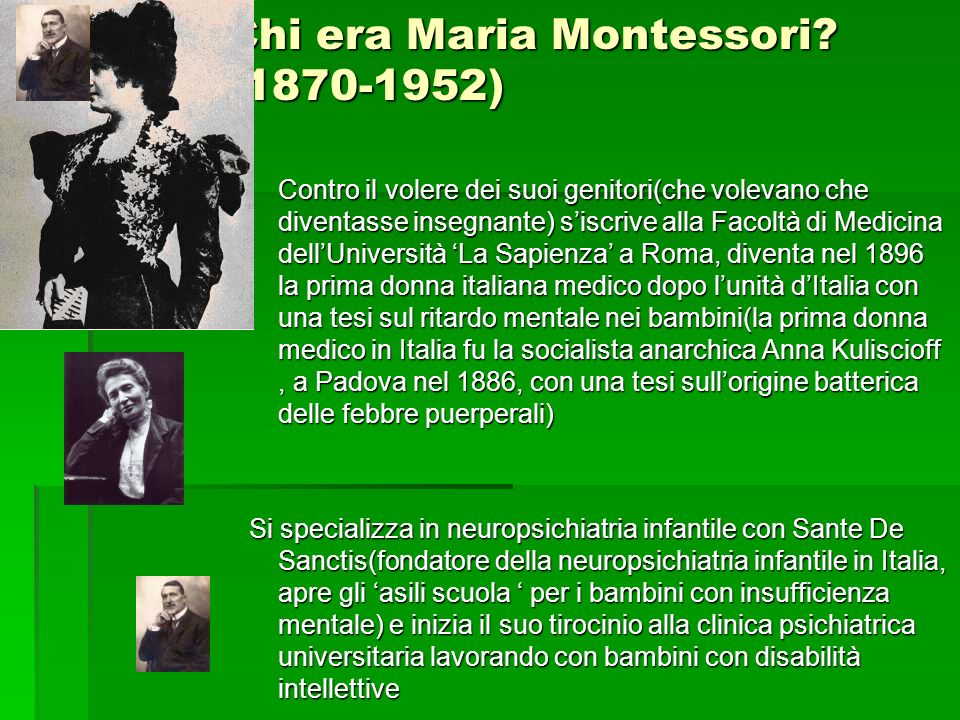 Chi era Maria Montessori (1870-1952)