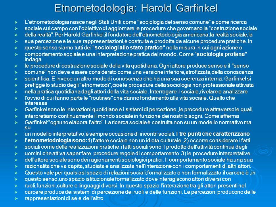 Etnometodologia: Harold Garfinkel
