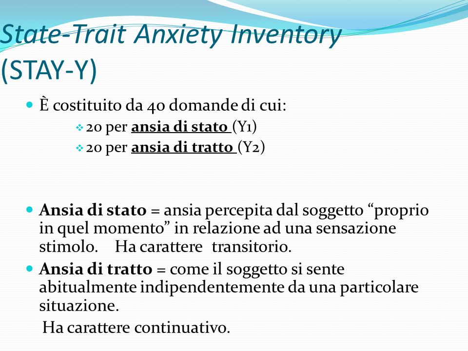 State-Trait Anxiety Inventory (STAY-Y)