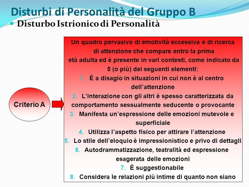 Disturbi di Personalità del Gruppo B