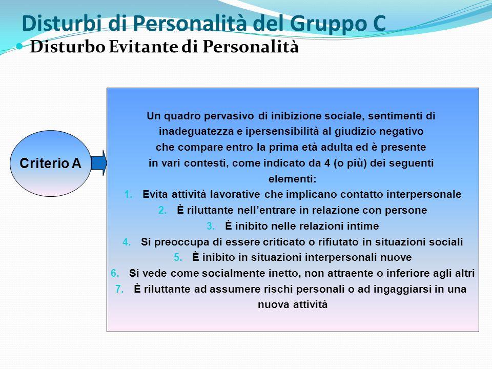 Disturbi di Personalità del Gruppo C