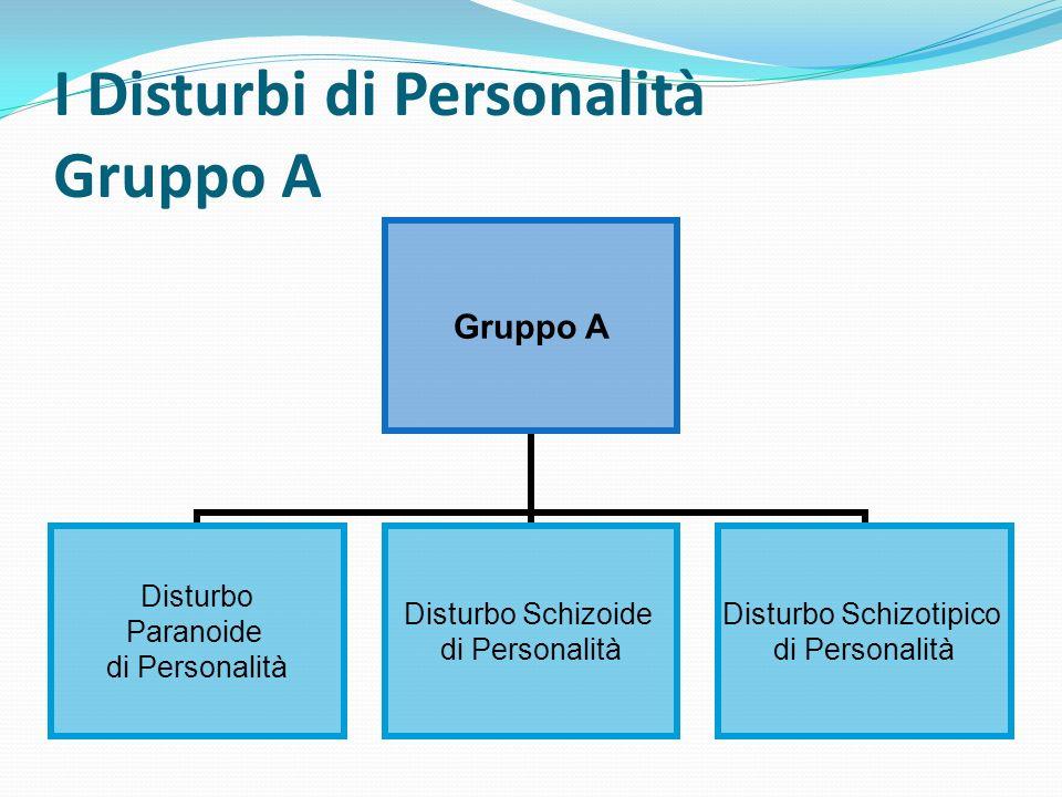 I Disturbi di Personalità Gruppo A