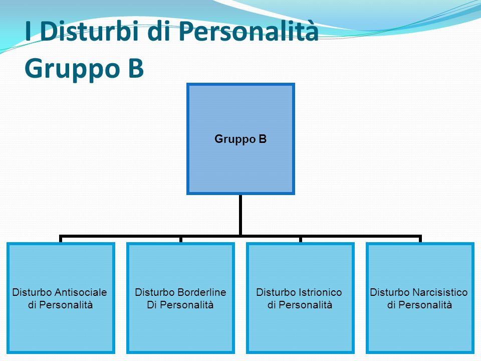 I Disturbi di Personalità Gruppo B