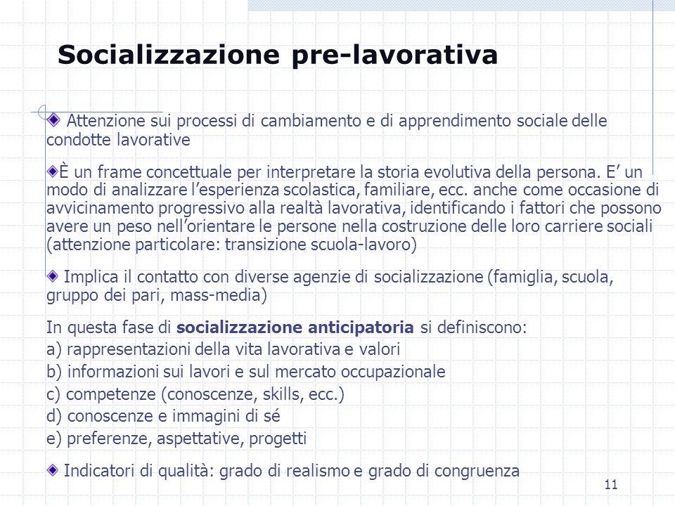 Socializzazione pre-lavorativa