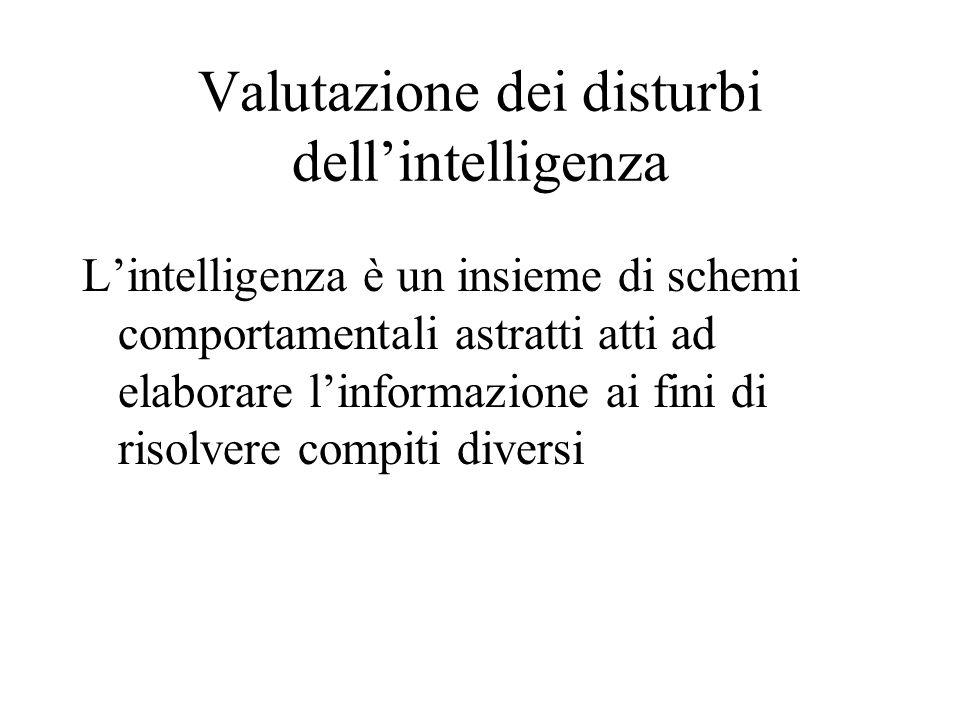 Valutazione dei disturbi dell'intelligenza