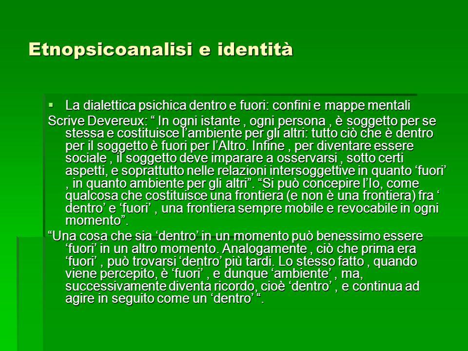 Etnopsicoanalisi e identità