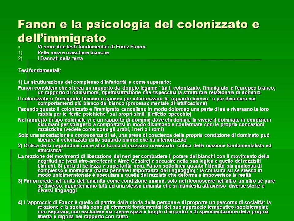 Fanon e la psicologia del colonizzato e dell'immigrato