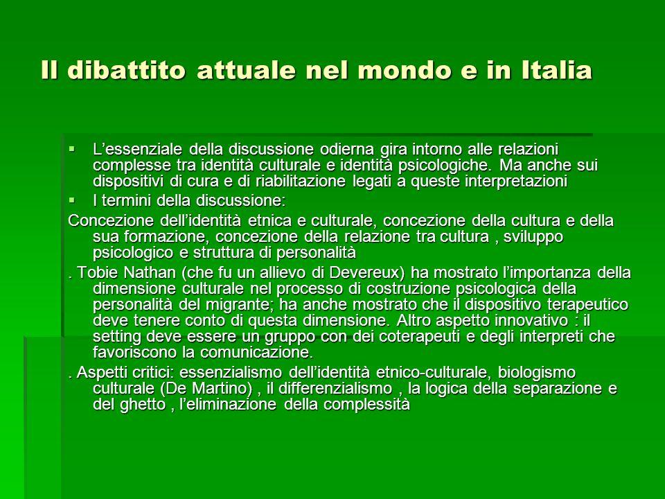 Il dibattito attuale nel mondo e in Italia