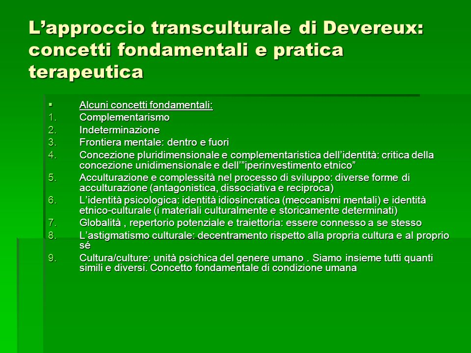 L'approccio transculturale di Devereux: concetti fondamentali e pratica terapeutica