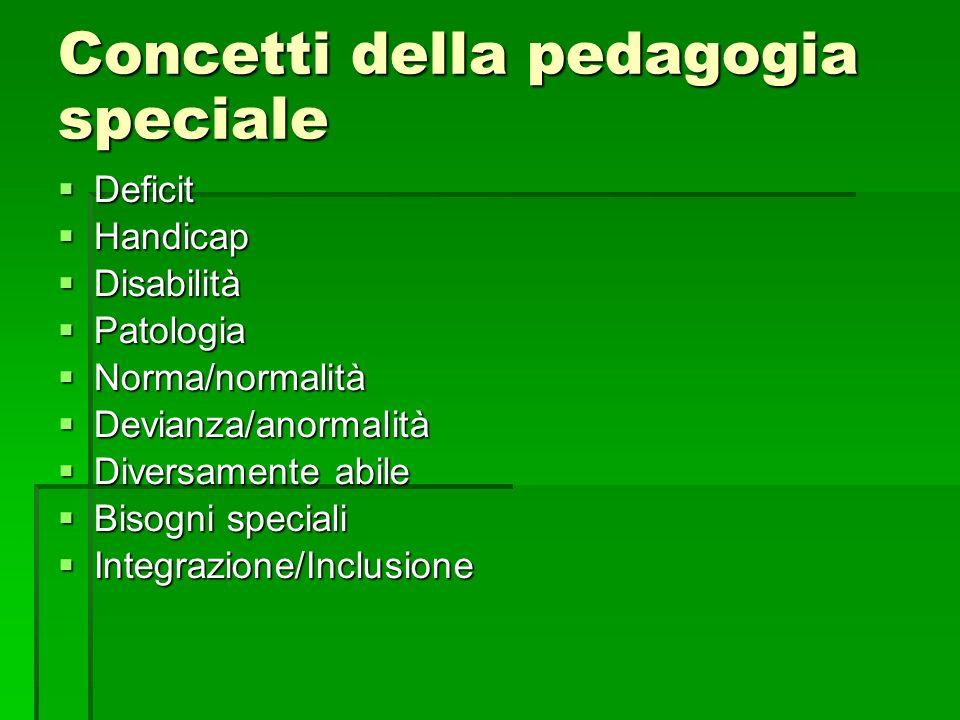 Concetti della pedagogia speciale